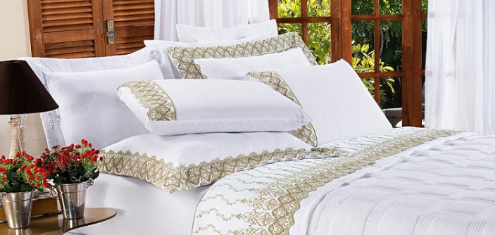 Admirare 5 modelos de jogo de lençol casal que vão deixar seu quarto lindo