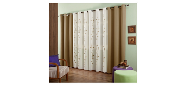 2063ec753c70b Admirare Quer investir em algo diferente para a sua sala Conheça a cortina  bicolor