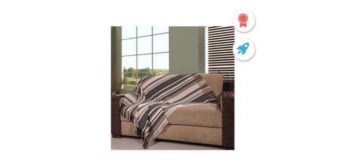 Admirare Quer mudar a cara da sua sala Conheça 4 maneiras estilosas de usar a manta para sofá